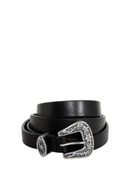 Dsquared 20Mm Extra Length Western Buckle Belt Black