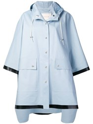 Mackintosh Hooded Oversized Raincoat Blue