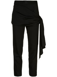 Hellessy Front Panel Cropped Trousers Black