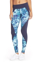 Women's Pink Lotus 'Midnight Run' Print Leggings