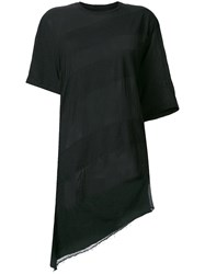 Lost And Found Rooms Asymmetric T Shirt Black