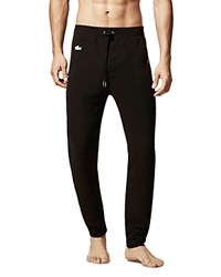 Lacoste Knit Lounge Pants Black
