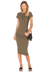 James Perse Classic Skinny Dress Army