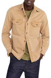 J.Crew Wallace And Barnes Stretch Duck Canvas Shirt Jacket Roasted Cider