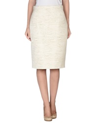 Dsquared2 Knee Length Skirts Ivory