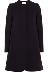 Goat Redgrave Wool Crepe Coat Purple