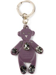 Gucci Teddy Bear Keyring Pink And Purple