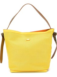 Steffen Schraut Animal Print Detail Tote Yellow And Orange