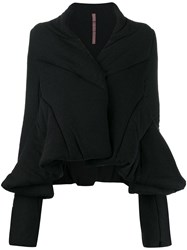 Rick Owens Lilies Flared Quilted Jacket Black