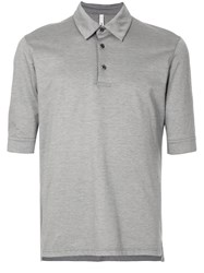Attachment Classic Fitted Polo Top Grey