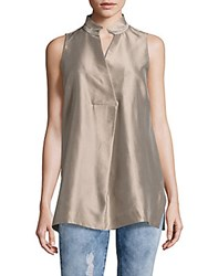 Lafayette 148 New York Eloise Sleeveless Silk Blouse Tea Flower