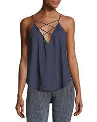 Vimmia Trellis Lace Front Camisole Tank Navy