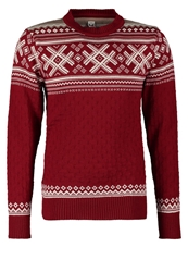 Dale Of Norway Haukeli Jumper Red Rose Pffwhite Taupe