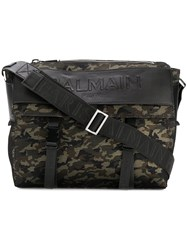 Balmain Camouflage Satchel Bag Black