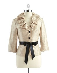 Adrianna Papell Ruffled Jacket Champagne