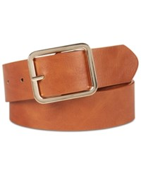 Inc International Concepts I.N.C. Casual Solid Belt Created For Macy's Cognac