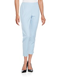 Lafayette 148 New York Stanton Cropped Pants Ice Water