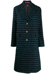 Paul Smith Ps Straight Fit Striped Coat Blue