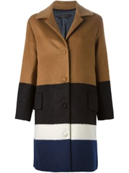 Mother Of Pearl Colour Block Coat Multicolour