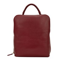 East Leather Back Pack Cardinal