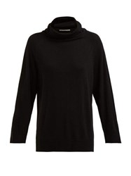The Row Mandel Wool And Cashmere Roll Neck Sweater Black