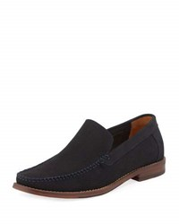 Kenneth Cole Media N Perforated Suede Loafer Blue