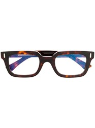 Cutler And Gross Rectangular Frame Glasses Brown