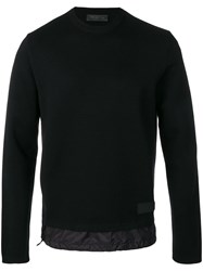 Prada Long Sleeve Fitted Sweater Black