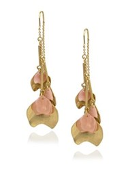 Danielle Nicole Blossom Front Back Petal Drop Earrings Gold