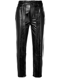 Aalto Cropped Waxed Trousers Black