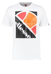Ellesse Nicola Print Tshirt Optic White