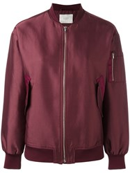 Just Female Theory Bomber Jacket Red