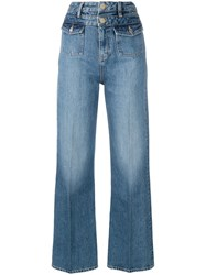 Tommy Hilfiger Wide Led Jeans Blue