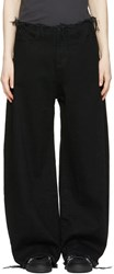 Marques Almeida Black Oversized Jeans