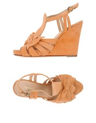 Cristinaeffe Footwear Sandals Women Apricot