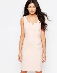 Paper Dolls Pencil Dress With Double Straps Pink