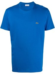 Lacoste Embroidered Logo T Shirt Blue