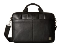 Knomo Brompton Classic Stanford Slim Briefcase Black Briefcase Bags
