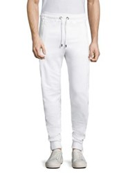 Versus By Versace Stretch Cotton Jogger Pants White Multi