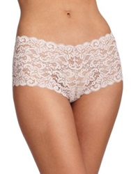 Hanro Luxury Moments Lace Boyshorts Skin Mellow Rose White Black