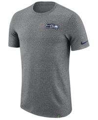 Nike Men's Seattle Seahawks Marled Patch T Shirt Heather Gray