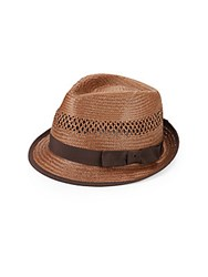Original Penguin Straw Fedora Brown