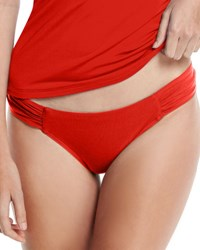 Jets By Jessika Allen Jetset Gathered Side Hipster Swim Bottom Red