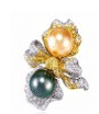 Anna Hu Haute Joaillerie Rose Ribbon Collection Rose Ribbon Ring In Pearl Orange
