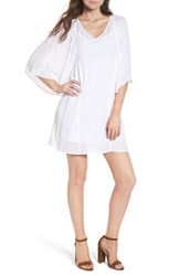 Hinge Embroidered Dress White