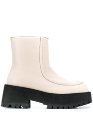 Marni Chunky Platform Ankle Boots White