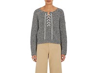 Tomorrowland Women's Laced Cotton Sweater No Color