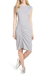 Trouve Ruched Knit Dress Grey Heather