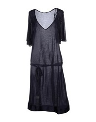 Cnc Costume National C'n'c' Costume National Knee Length Dresses Dark Blue