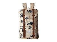 Herschel Little America Mid Volume Tropical Floral Tan Synthetic Leather Backpack Bags Beige